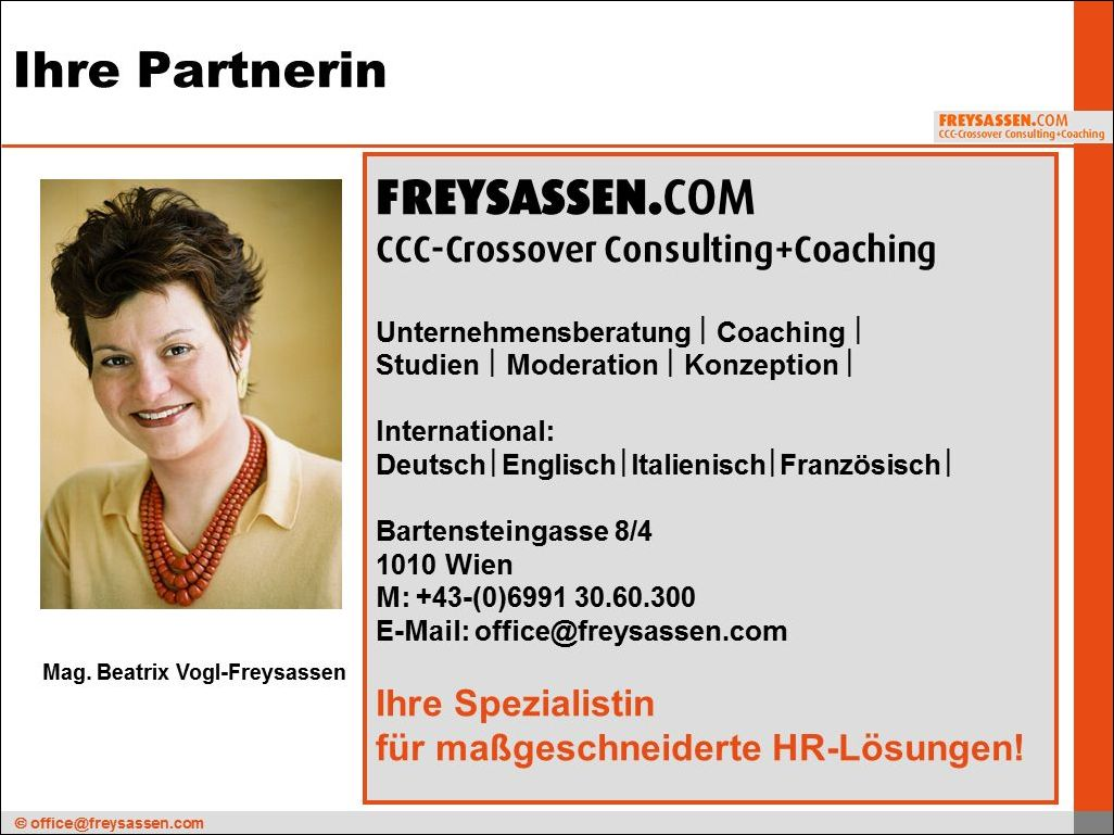 Welcome to FREYSASSEN.COM CCC-Crossover Consulting+Coaching,Vienna/Austria 1010 Wien/AUSTRIA